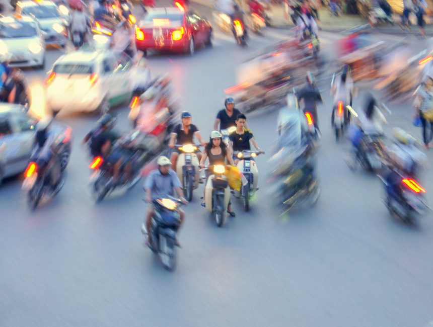 vietnam scooter rijden
