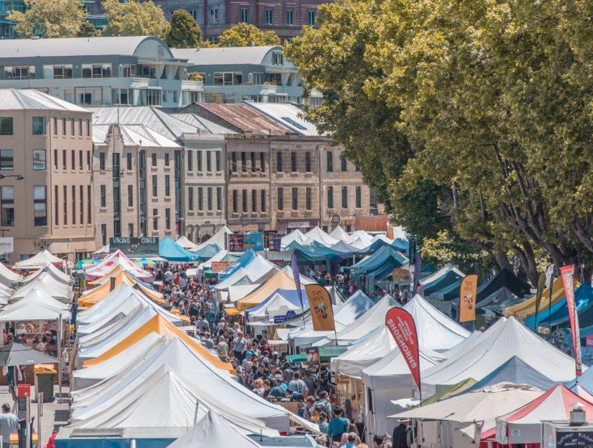 Salamanca Markets Tasmanië