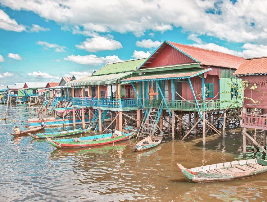 drijvende dorpen Cambodja reis