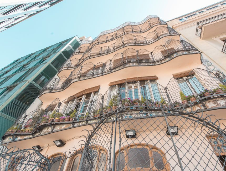 achterkant gevel casa batllo barcelona