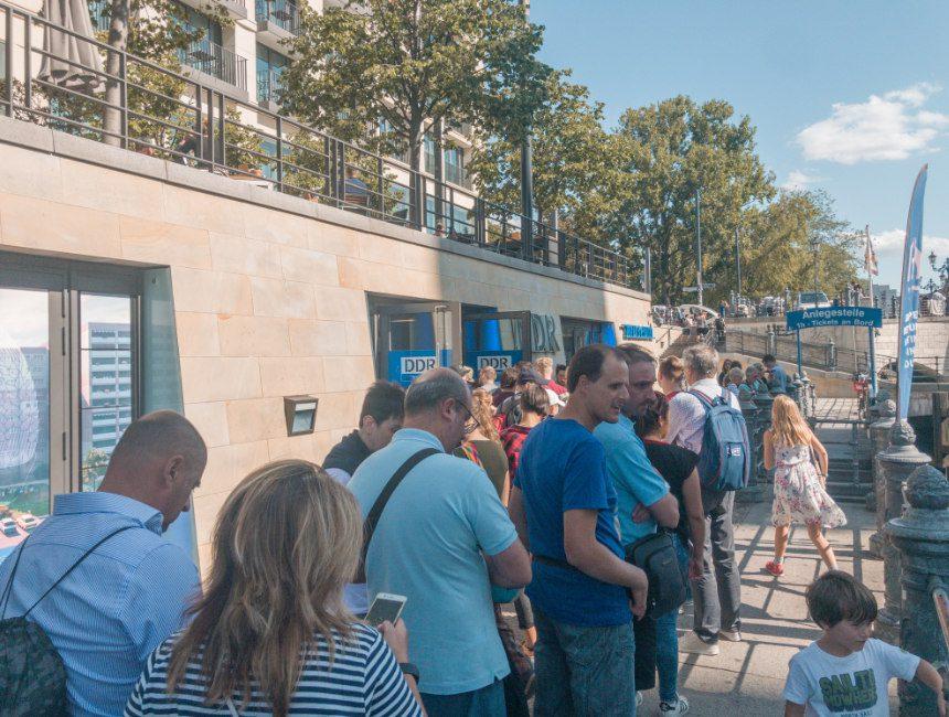 DDR museum berlijn wachtrijen