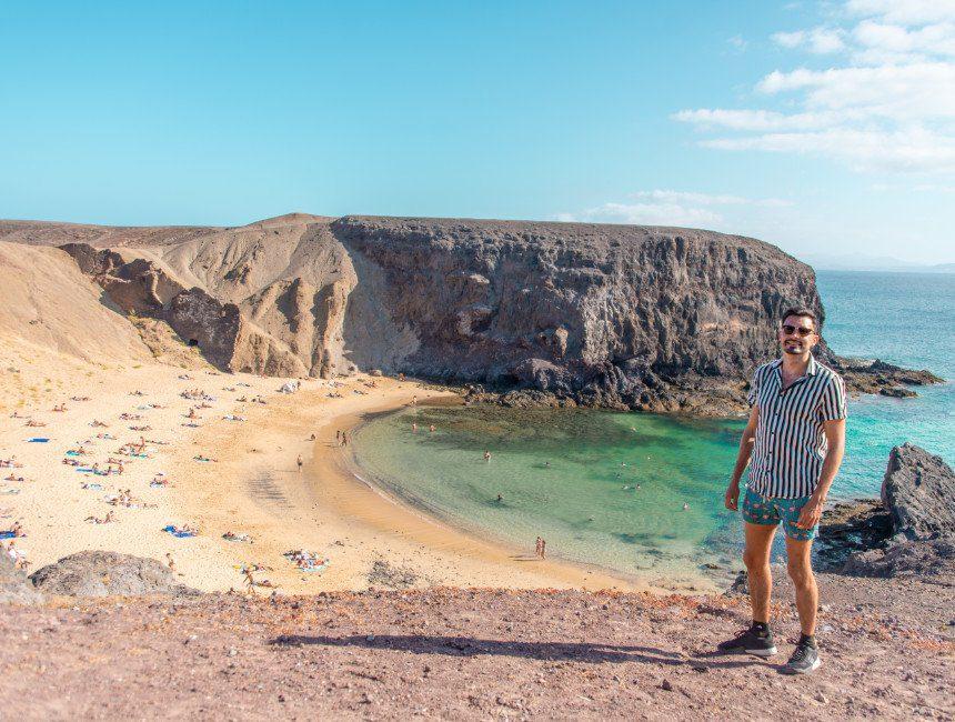 Playa del Papagayo auto huren Lanzarote