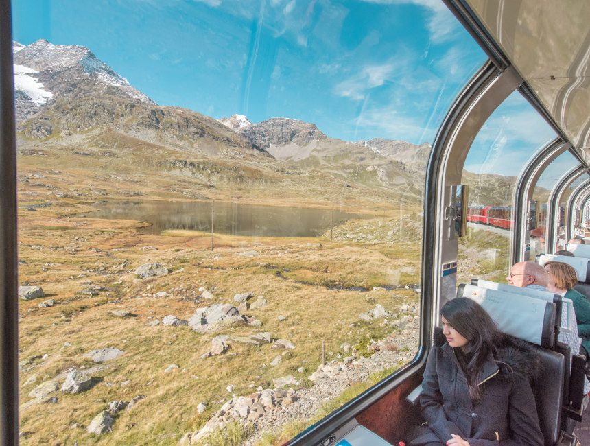 Bernina Express panoramatrein Zwitserland