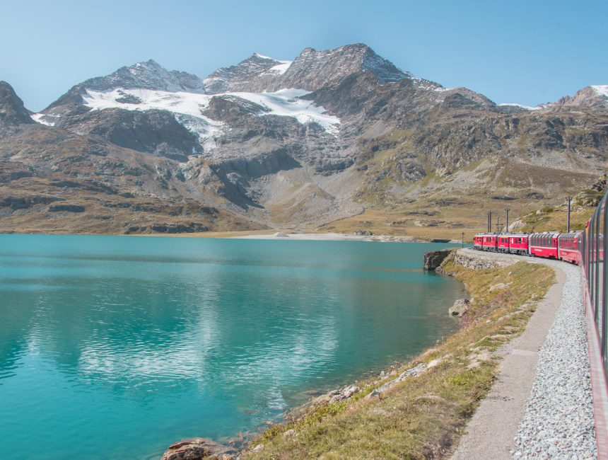 panoramatrein Zwitserland Bernina Express