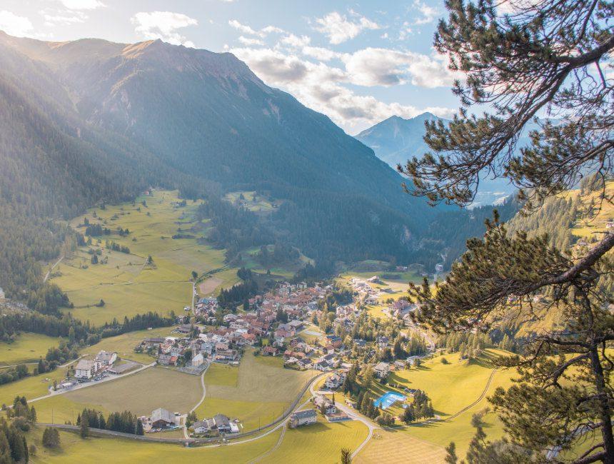 uitzicht Bergün Zwitserland