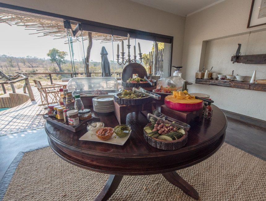 Jock Safari Lodge ontbijt