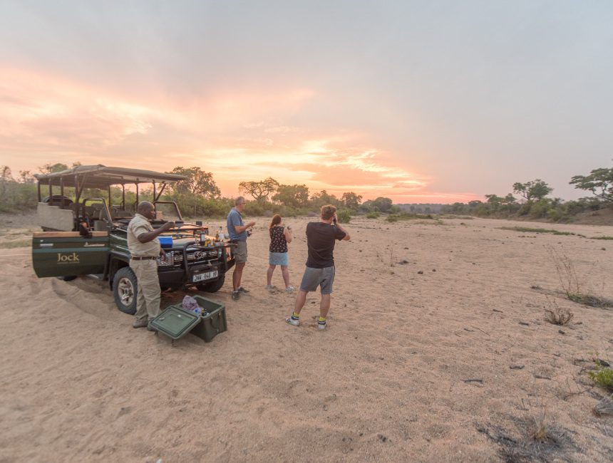 Jock Safari Lodge zonsondergang Safari