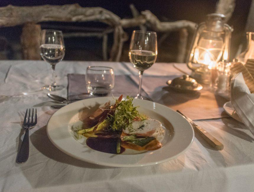 avondeten Jock Safari Lodge