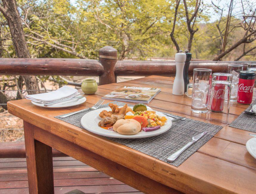 Makalali wildreservaat lunch
