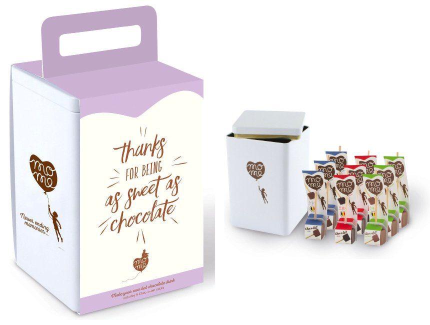 Chocolademelk sticks cadeau juf meester