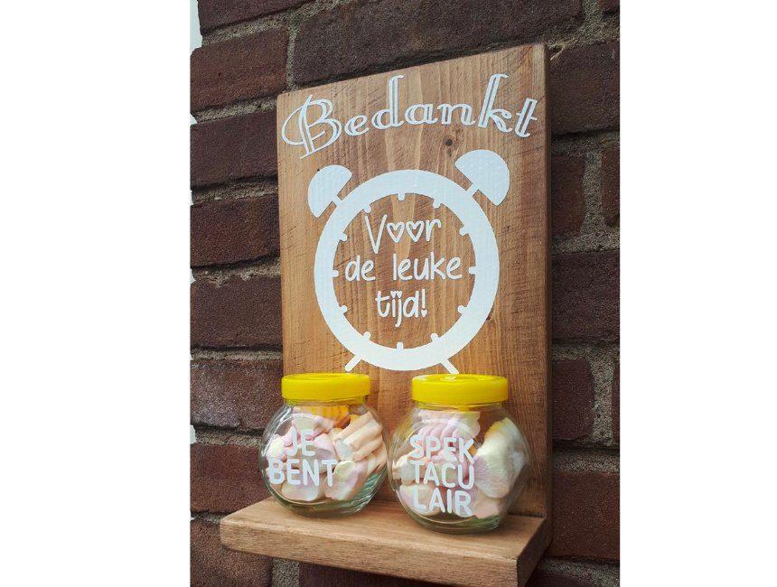 Wandbord met snoepjes
