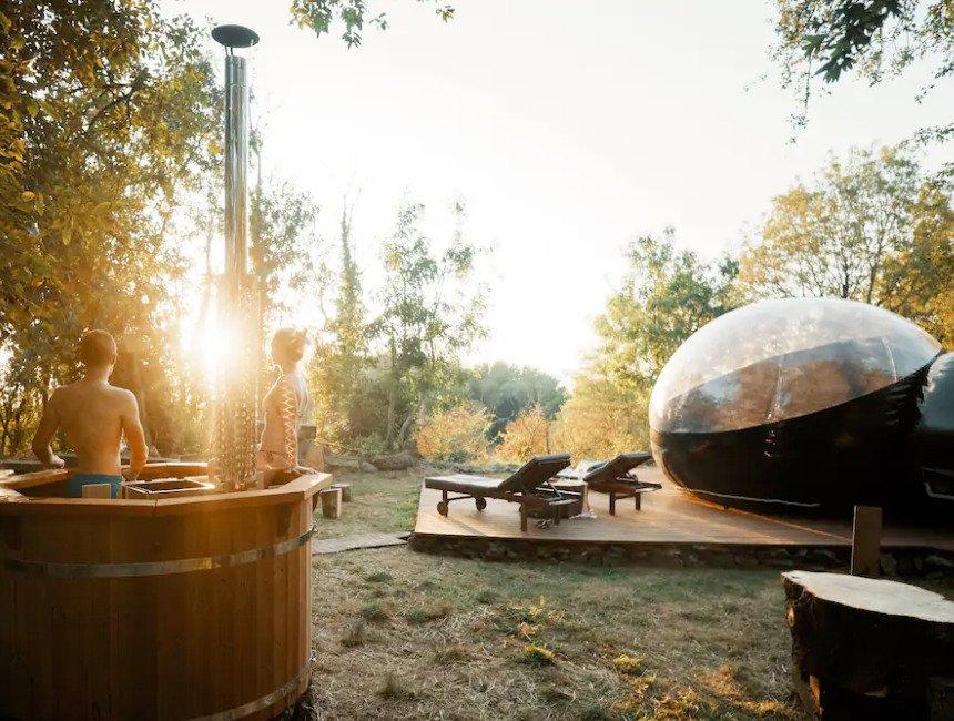 overnachten in een bubbel Ardennen