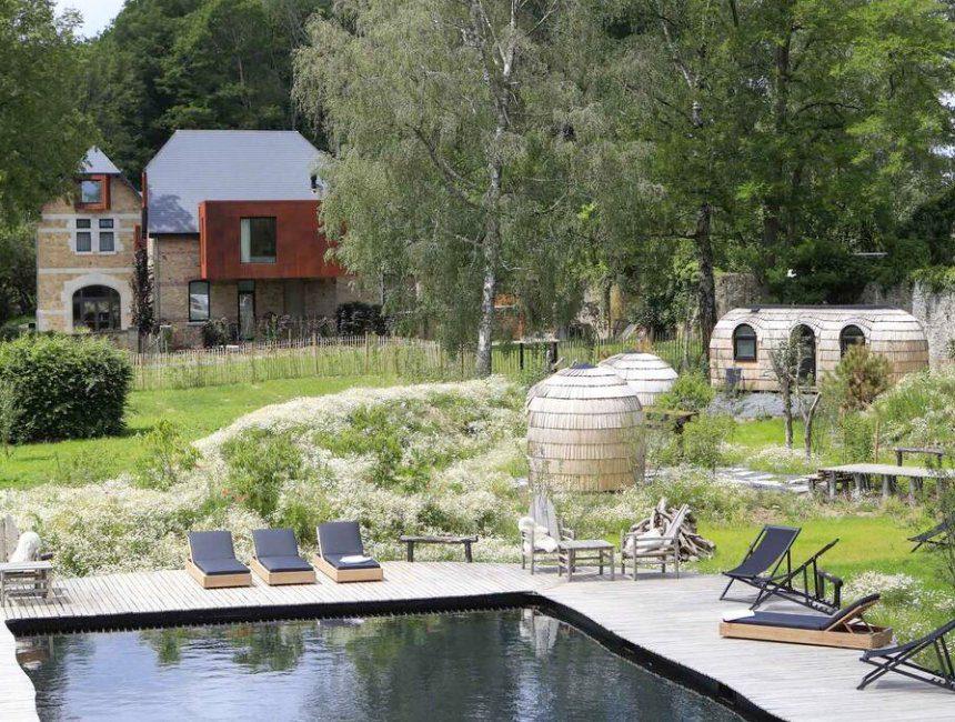 overnachting Ardennen met zwembad Domaine de Ronchinne