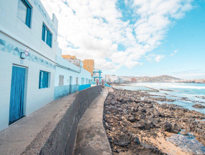 Playa del Agujero autoroute Canarische eilanden