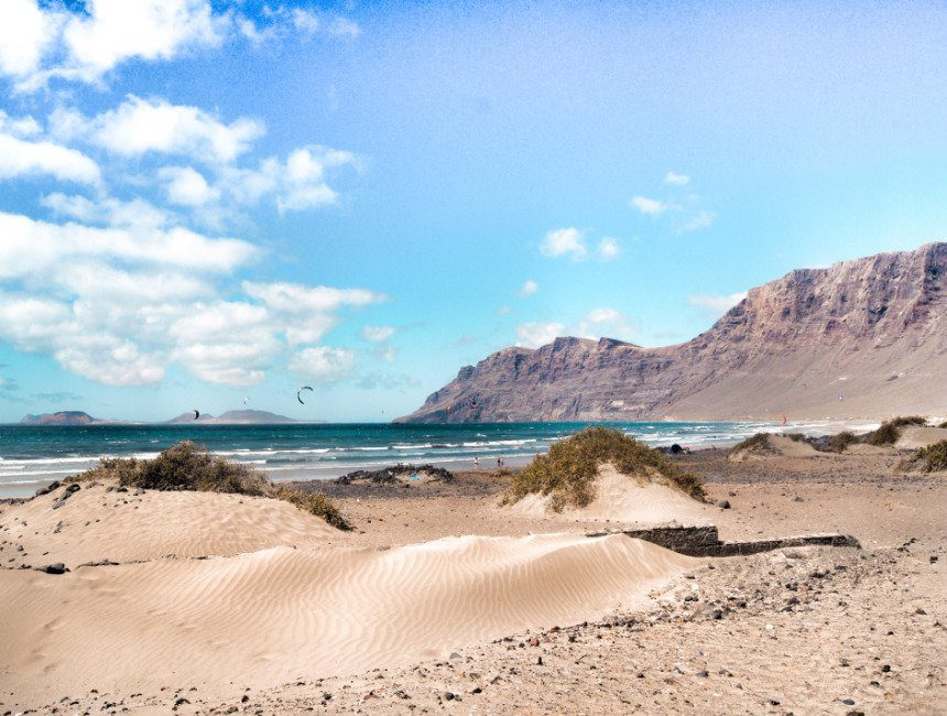Famara strand Lanzarote rondreis