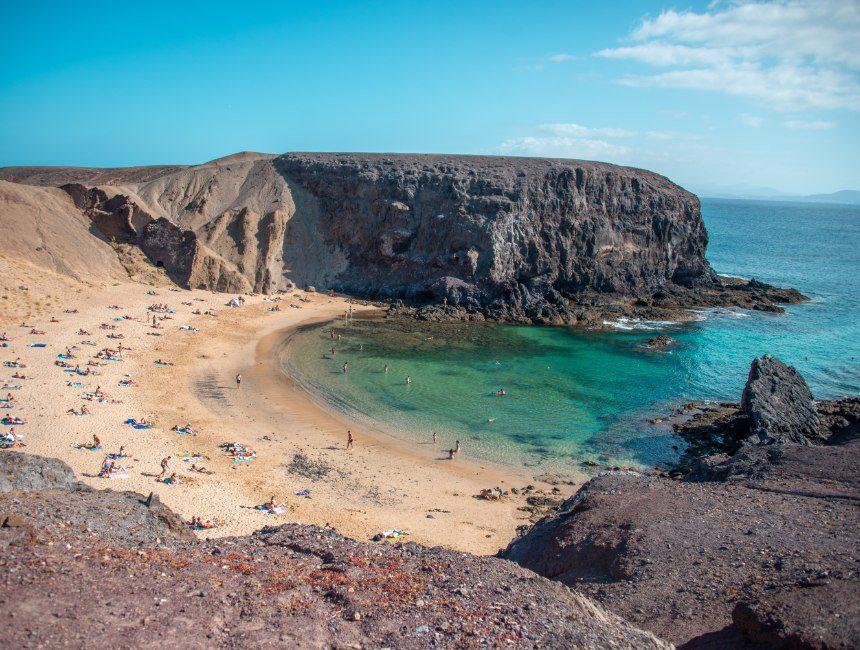 rondreis Lanzarote playo papagayo